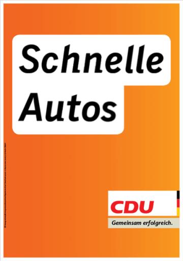 CDU: Schnelle Autos