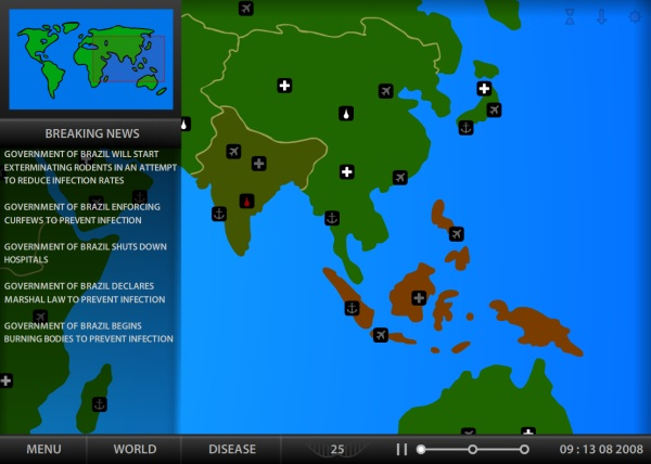 Pandemic 2 World Map