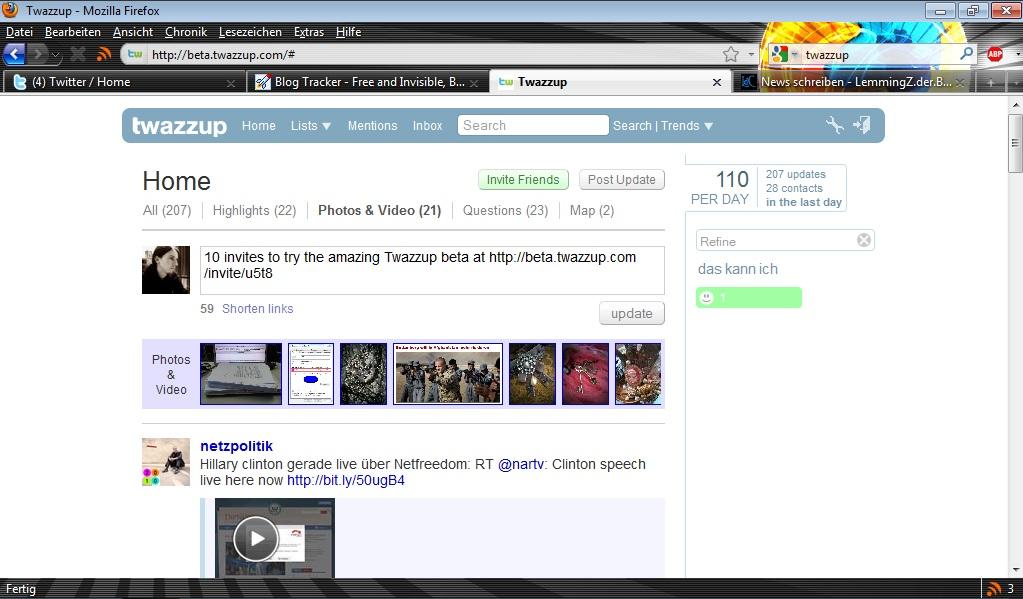 Screenshot twazzup